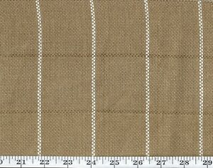Brown Linen Check Upholstery Fabric by Ralph Lauren R$220y Keap Check CL Pecan