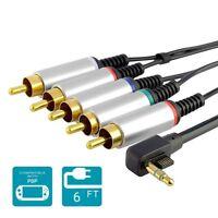 Component AV TV HDTV Cable Lead Cord For Sony PSP Slim 2000/3000 New