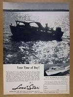 1960 Lone Star EL DORADO aluminum boat photo vintage print Ad