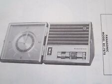 New listing Panasonic Rc-7878 Radio Receiver Photofact
