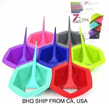 7-Color Rainbow Hair Dye Brush and Bowl Set for Hair Coloring