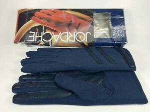 Vintage Jordache Women's Ladies Stretch Driving Gloves Blue One Size Fits All