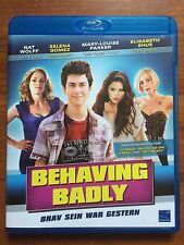 Behaving Badly (Blu Ray disc, 2013) Region 2/B RARE OOP Selena Gomez
