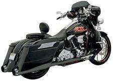 Bassani +P Stepped True Dual B1 Exhaust System Black Harley FLHRI 1F56RB