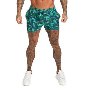 GINGTTO Men Swimming Shorts Swimwear Summer Boxer Beach Surf Board Shorts Trunks