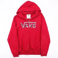 VANS  Red Classic Zip Up Hoodie Mens M