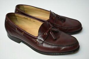 Mens Allen Edmonds Ramsgate Burgundy Tassel Loafers Dress Shoes 8.5 D