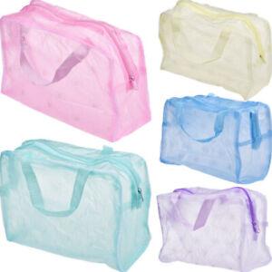 Portable Travel Shower Makeup Commodity Bag Transparent Waterproof Plastic Pouch