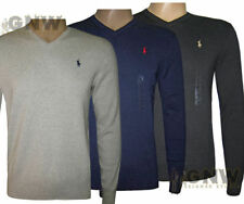 Ralph Lauren Cotton V-Neck Jumpers for Men