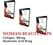 STRONG WOMAN COLLAGEN & HYALURONIC ACID PILL SKIN ELASTISITY ANTI AGEING CAPS