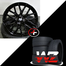 "17"" Wheels With Tires Gloss Black Fits Mini Cooper S Rims 4x100 Cooper Works"