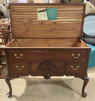 Caswell-Runyan Cedar Wood Chest w/ Faux Drawers