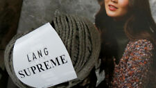 10 Knl. SUPREME WOLLE Merino Seide Cashmere Lang Yarns Taupe GRAUBRAN UVP 89,50€
