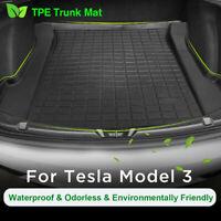 Trunk Floor Durable TPE Mat Cargo Liner Rear Cargo Tray Black For Tesla Model 3