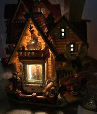 Rare Lemax Brown's Taxidermy Christmas Village House Deer Moose Bear Goat MIB