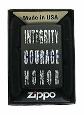 Zippo Custom Lighter American Heroes Blue Line Police Support Eagle