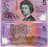 AUSTRALIA 5 DOLLARS 2013 P 57 POLYMER UNC
