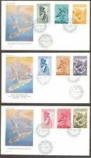Vatican City Sc# C24-32, Archangel Gabriel Issue on 3 First Day Covers