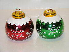 CHRISTMAS ORNAMENT SALT AND PEPPER SHAKERS COLLECTABLE
