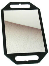 Black Rectangle Hairdressing Handheld Salon Mirror (26cm x 41cm x 1cm)