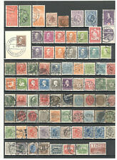 Denmark collection Album 3 pages with used stamps