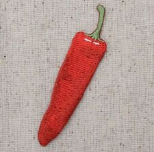 """2-1/2"""" Red Chili Pepper - Hot Jalapeno/Food - Iron on Applique/Embroidered Patch"""