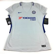 Nike Chelsea Football Club Soccer Jersey Shirt Womens Large Short Sleeve Gray
