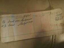 vintage seafood receipt stubb shrimp morgan city packing co1955 houma la