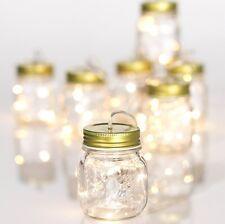 """XG3625558 RAZ B/O 87"""" String of 7 Mason Jars LED Light Garland Indoor/Outdoor"""