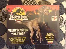 """Jurassic Park Velociraptor """"Raptor"""" Model Kit Lindberg! Super Detailed! 1993 NEW"""