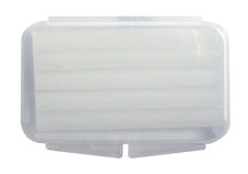 50 Pieces Clear Boxes Orthodontic Dental Patient Wax 5 Strips Flip-Open Clear