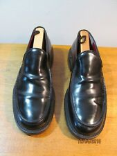 BCBG Max Azria Men's Black Leather Loafers Slip On Shoes Sz US 9 Italy