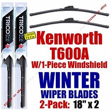 WINTER Wipers 2pk fit 2007 Kenworth T600A w/1-Piece Windshield - 35180x2