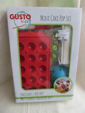 Mini Cake Pop Set par Gusto Kidz Neuf Silicone Tray Icing Set Pop Bâtons Support