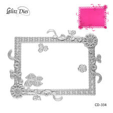 Frame and Flowers Cutting Dies for DIY Decor Scrapbooking Photo Album Crafts