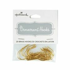 Hallmark - Keepsake Ornament Brass Hooks - 20 hooks per package - 1 package