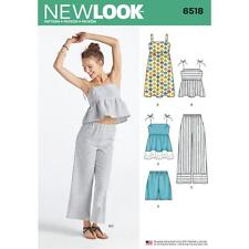 NEW LOOK SEWING PATTERN MISSES' Dress Tops in 2 Lens Pants & Shorts 6-18 6518