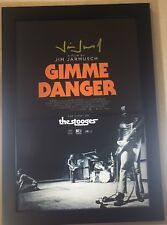 Gimmie Danger JIM JARMUSCH  Signed Framed 12x18 Movie Poster