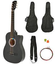 Chitarra acustica Western completa di accessori e corde sostitutive colorate