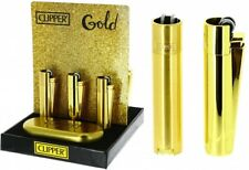 METAL CLIPPER GOLD SHINE or MATT LIGHTER LIMITED EDITION -NEW-