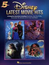 Disney Latest Movie Hits Five Finger Piano Sheet Music Book Frozen Moana Coco