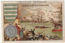 chromo chocolat révillon -  médaille de madagascar