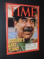 Time Magazine 2003 Saddam's Last Stand **FREE SHIPPING**
