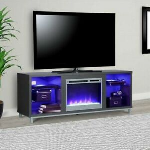 "Ameriwood Lumina 70"" Fireplace TV Stand - Graphite"