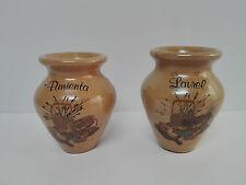 Antiguos Especieros de ceramica Pimienta Laurel