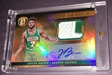 2016-17 Panini Good As Gold Standard JAYLEN BROWN Jersey Patch Auto RC 01/25 1/1