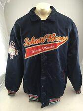 RARE Vintage Schott Bros Heavy Hitter full zip snap navy blue Bomber Jacket 3XL