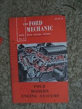 1954 Ford Service Forum Manual Cooling Lube Ventilate Exhaust Engine Systems R