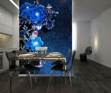 3D Blue Peony Flower 15325Na Wallpaper Wall Murals Removable Wallpaper Fay