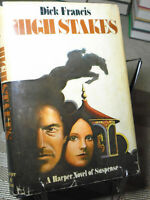 Dick Francis, High Stakes, Signed, 1st Edition,1st Printing, Like New, 1979